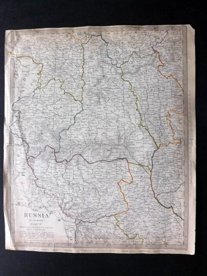 SDUK 1835 Antique Map. Russia in Europe Part V